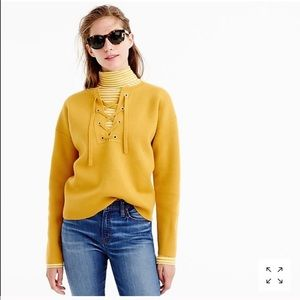 Jcrew Collection Bonded Lace Up Sweater